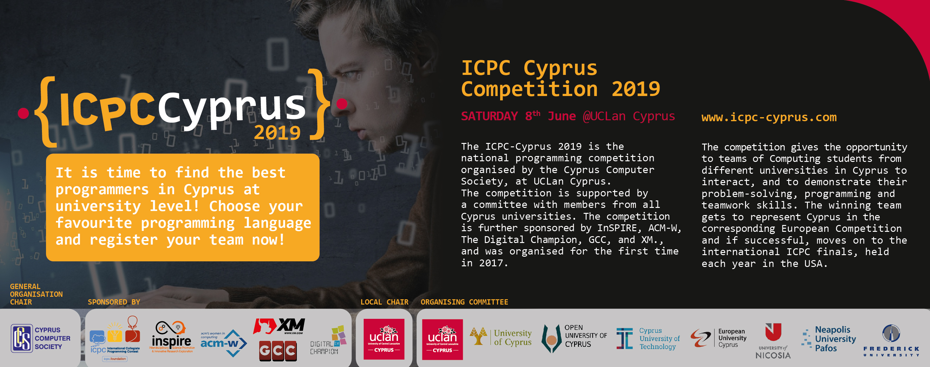 June 8, ACM Inter-Collegiate Programming Competition (ICPC) Cyprus 2019, UCLan